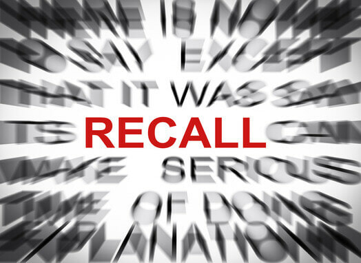 What should a consumer do after learning a product has been recalled in Jackson, Mississippi?
